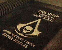 Assassins Creed Comicon Chalk Stencil