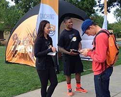 College campus event tour and activations