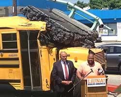 Custom props, bridge, school bus, LiUNA